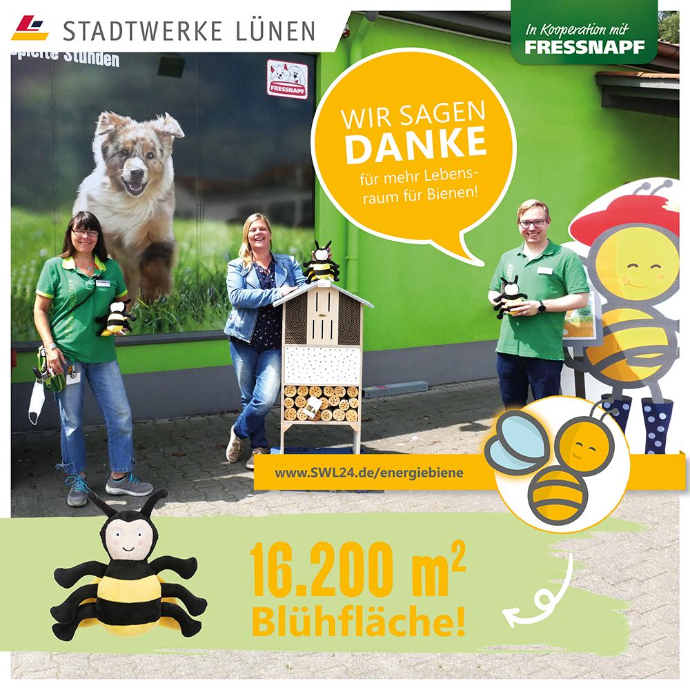 Fressnapf Lünen unterstützte SWL-EnergieBiene auch in 2021